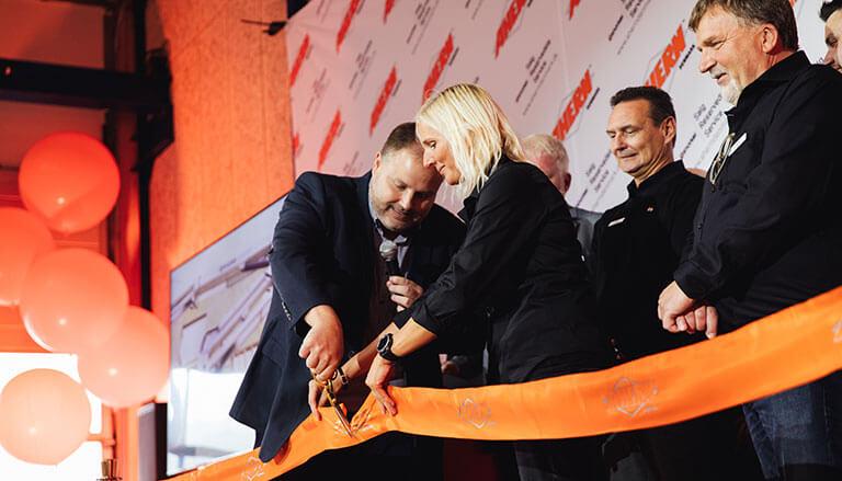 Deputy Mayor of Vejle, Dan Arnløv Jørgensen cut the ribbon officially declaring Ahern Denmark open for business.